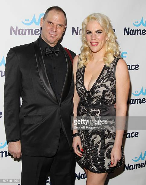 Photographer Steve Eichner and Daniela Kirsch Founders of NameFacecom poses for a picture during the NameFacecom launch party at No 8 on January 27...
