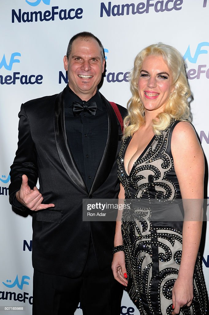 Photographer Steve Eichner (L) and Developer Daniela Kirsch, Founders of NameFace.com attend the NameFace.com Launch at No. 8 on January 27, 2016 in New York City.