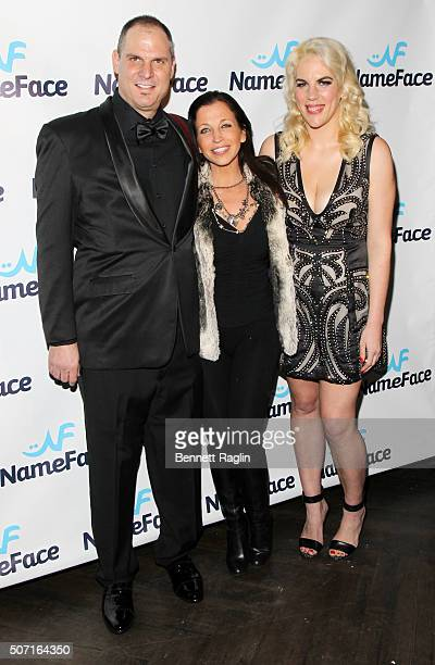Photographer Steve Eichner Wendy Diamond and Daniela Kirsch attend the NameFacecom launch party at No 8 on January 27 2016 in New York City