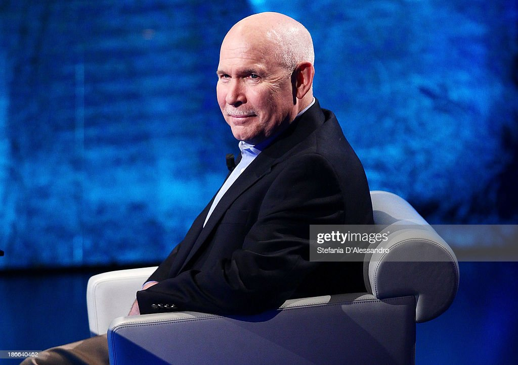 Photographer Steve McCurry attends 'Che Tempo Che Fa' TV Show on November 2, 2013 in Milan, Italy.