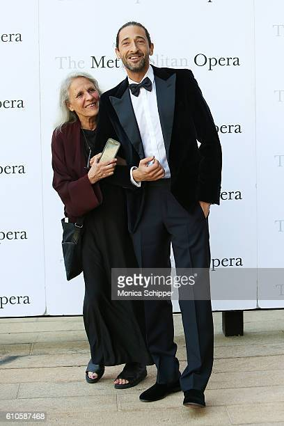 Photographer Sylvia Plachy and actor Adrien Brody attend the Met Opera 20162017 Season Opening Performance Of 'Tristan Und Isolde' at The...