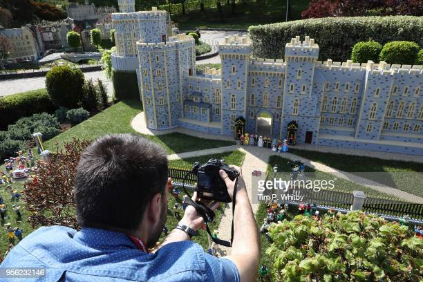 Photographer takes a photo of a brand new model of Windor Castle goes on permananent display to celebate the wedding of HRH Prince Harry and Meghan...