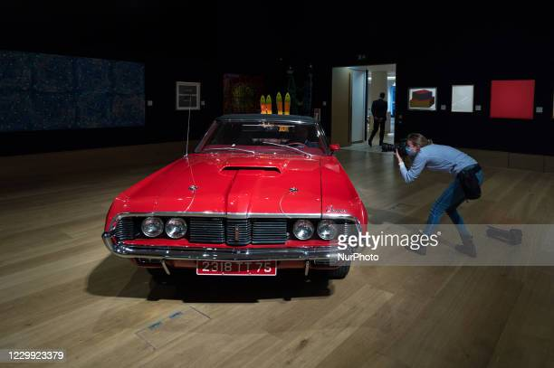 Photographer takes close up shots of a 1969 Mercury Cougar XR7 convertible , which had a starring role in the classic Bond film 'On Her Majestys...
