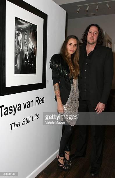 Photographer Tasya Van Ree and Aaron Cohen attend The Tasya Van Ree Art Exhibit hosted by Amber Heard on February 11 2010 in Beverly Hills California