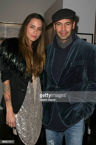 Photographer Tasya Van Ree and actor Billy Zane attend The Tasya Van Ree Art Exhibit hosted by Amber Heard on February 11 2010 in Beverly Hills...