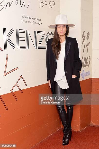 Photographer Tasya van Ree attends Snowbird presented by Kenzo at Hollywood American Legion on February 2 2016 in Los Angeles California