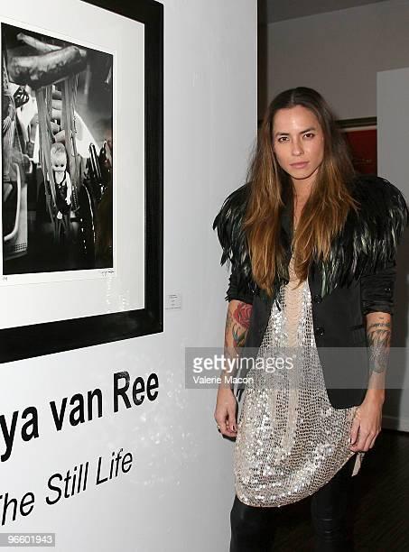 Photographer Tasya Van Ree attends The Tasya Van Ree Art Exhibit hosted by Amber Heard on February 11 2010 in Beverly Hills California