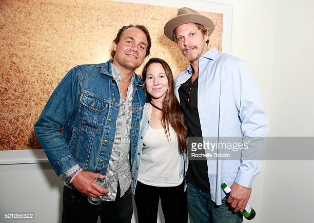 Photographer Teddy Sczudlo Katherine Nieves and furniture designer Chad Hagerman attend the Photo Femmes Exhibition Opening at De Re Gallery...