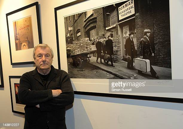 Photographer Terry O'Neill discusses his images at the Rolling Stones 50 Years in Photography press review at the Morrison Hotel Gallery on May 3...