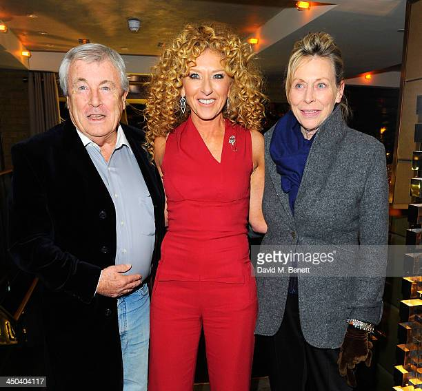 Photographer Terry O'Neill Kelly Hoppen and Laraine Ashton attend the launch of Kelly Hoppen MBE's new book Design Masterclass at Belgraves Hotel on...