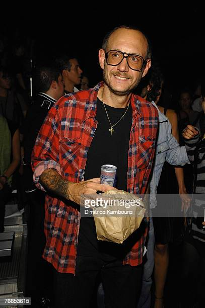 Photographer Terry Richardson at Marc Jacobs Spring 2008 during MercedesBenz Fashion Week at the New York State Armory on September 10 2007 in New...