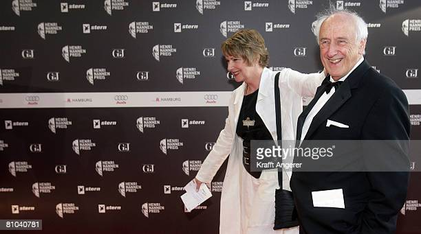 Photographer Thomas Hoepker and his wife Christine Kruchen attend the HenriNannenAward on May 9 2008 in Hamburg Germany