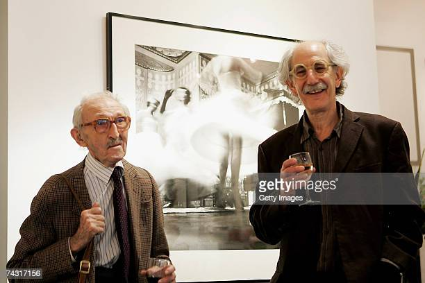 Photographer Thurston Hopkins talks to photo editor Colin Jacobson at the Getty Images Gallery during the private view of the Picture Post exhibition...
