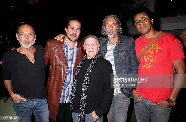 Photographer Timothy White musician Citizen Cope photographer Henry Diltz producer Scooter Weintraub and musician Jon Clark at iconic rock...