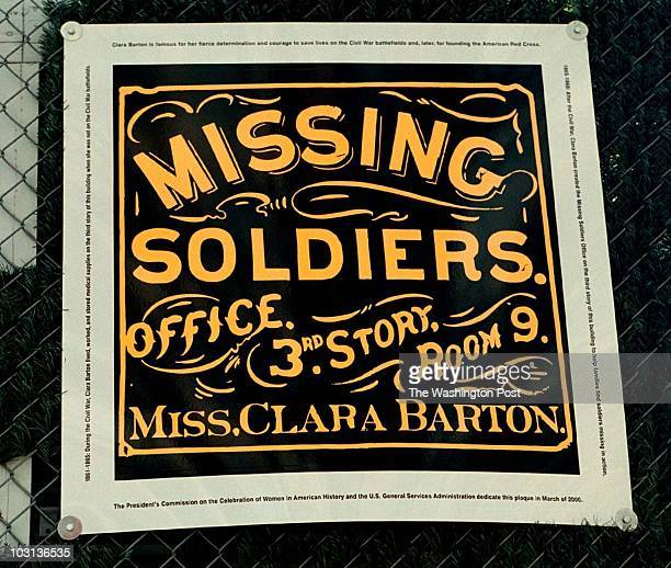 TOM ALLEN TWP 437/441 7th St NW Civil War offices of Clara Barton Sign on the building containing the Civil War offices of Clara Barton Original...