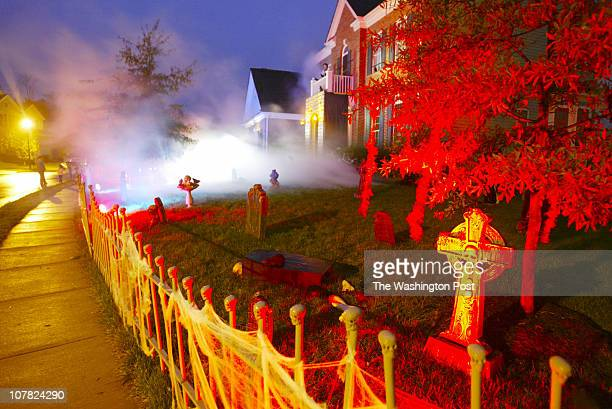 Tracy A Woodward/TWP NEGATIVE NUMBER 160905 Leesburg VA Every year Dana Sacco turns her home into a haunted house for Halloween When open will raise...