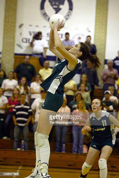 Tracy A Woodward/TWP NEGATIVE NUMBER 161972 Hillsville VA Loudoun Valley in state volleyball semifinals at Carroll County High School Valley wins...