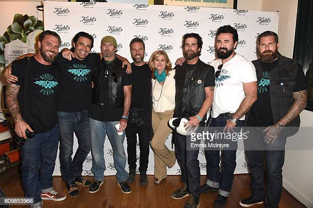 Photographer Travis Shinn, actor Gilles Marini, actor Scott Patterson, actor J. R. Bourne, OCRFA President and CEO Audra Moran, actor Grant Reynolds,...