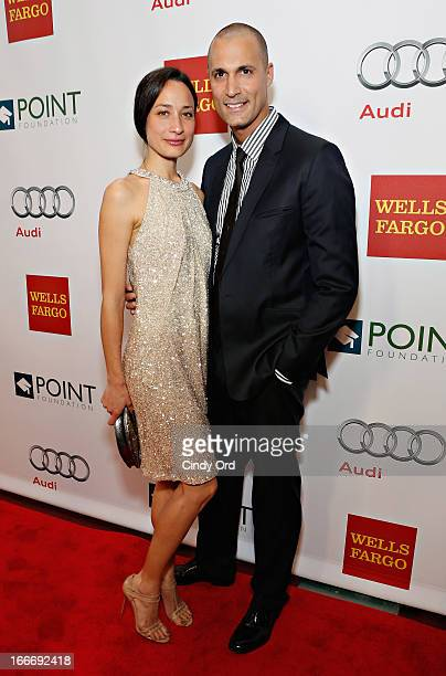 Photographer/ TV personality Nigel Barker and wife Cristen Barker attend the 2013 Point Honors Gala at Pier Sixty at Chelsea Piers on April 15 2013...
