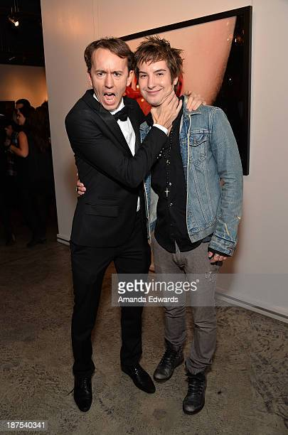 Photographer Tyler Shields and actor Andrew James Allen attend the launch party for Shields's new book 'The Dirty Side Of Glamour' at Guy Hepner...