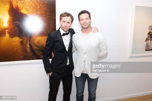 Photographer Tyler Shields and actor Ian Bohen attend Tyler Shields 'Provocateur' Opening at Leica Store and Gallery Los Angeles on May 11 2017 in...