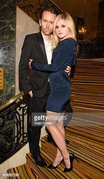 Photographer Tyler Shields and actress Ana MulvoyTen attend the Berggruen Institute 5 Year Anniversary Celebration at The Beverly Wilshire on May 3...