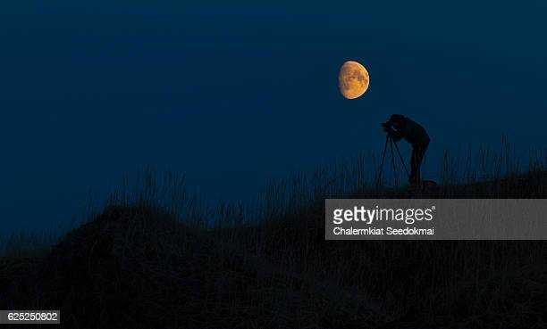 Photographer with The Super Moon