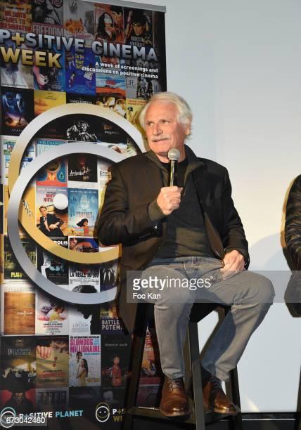 Photographer Yann Arthus Bertrand attends 'Semaine du Cinema Positif' Cocktail at Terrasse du Publicis Cinema on April 25 2017 in Paris France