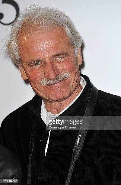 Photographer Yann ArthusBertrand attends the 35th Cesar Film Awards at Theatre du Chatelet on February 27 2010 in Paris France