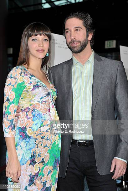 Photographer Zoe Buckman and Producer David Schwimmer attend the screening of Millennium Entertainment's 'Trust' held at the DGA Theater on March 21...