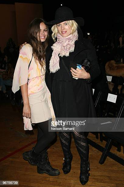 Photographer/actress Amanda de Cadenet and daughter Atlanta Taylor attend the Marc by Marc Jacobs Fall 2010 Fashion Show during MercedesBenz Fashion...