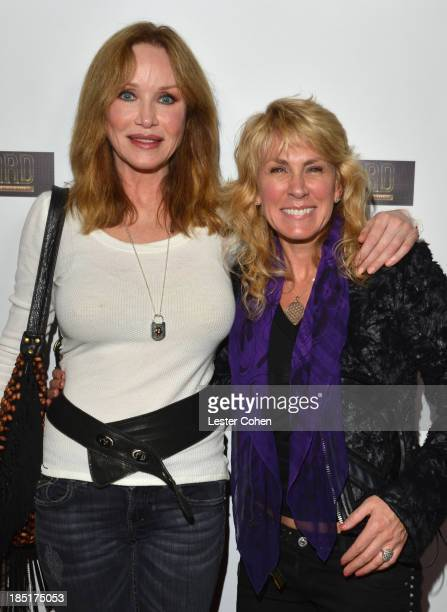 Photographer/author Lisa S Johnson and actress Tanya Roberts attend 108 Rock Star Guitars book release at Mr Musichead Gallery on October 17 2013 in...