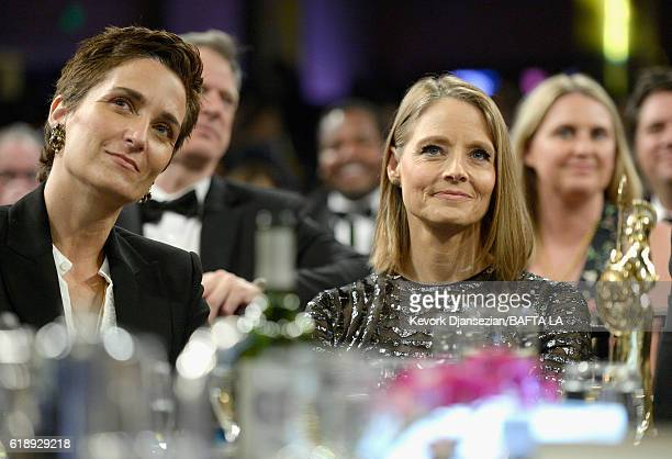Photographer/director Alexandra Hedison and honoree Jodie Foster attend the 2016 AMD British Academy Britannia Awards presented by Jaguar Land Rover...