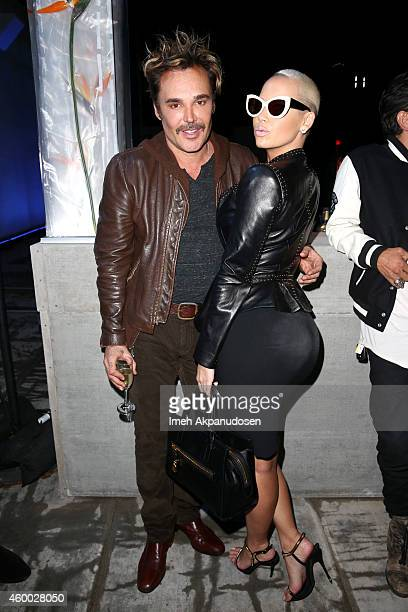 Photographer/Director David LaChapelle and Amber Rose attend the launch of Just One Eye's Ulysses Tier 1 The Ultimate Disaster Relief Kit on December...