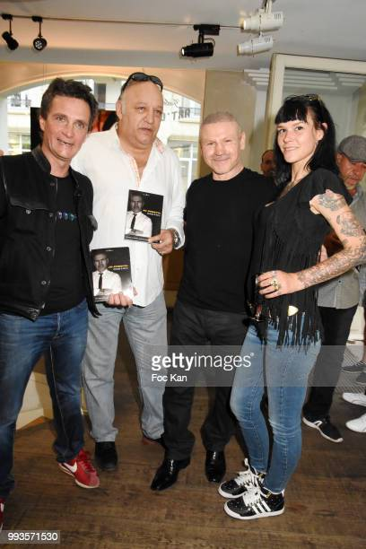Photographer/director Richard Aujard Boxing champion Franck Tiozzo Kick boxer/actor/director/writer Jo Prestia and model Lza Stayaert attend Jamais A...