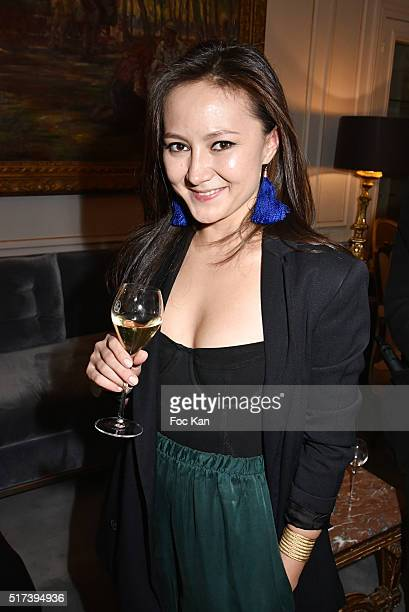 Photographer/Installation artist Ada Yu attends the 'Blue Angels Suites' : Opening Party and Concert by Pete Drungle at Hotel Lancaster on March 24,...
