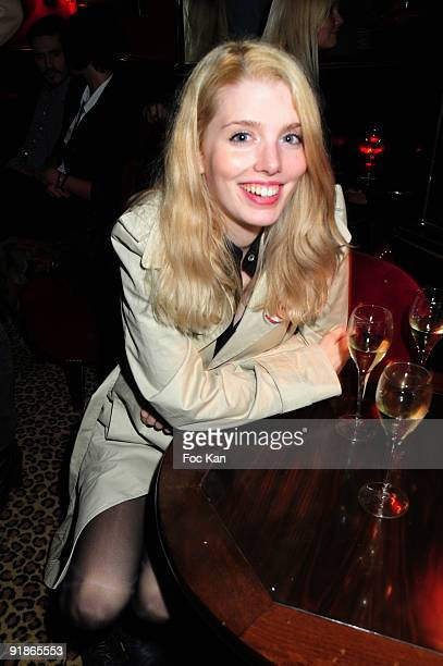 Photographer/novelist Alexandra Geyser attends the Frederic Beigbeder 'Un Roman Francais' after and birthday Party at the Mathis Club on September 22...