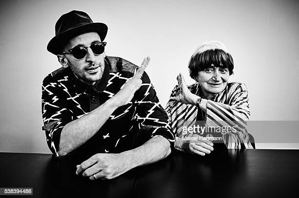 Photographers Agnes Varda and JR are photographed for Self Assignment on May 15 2016 in Cannes France