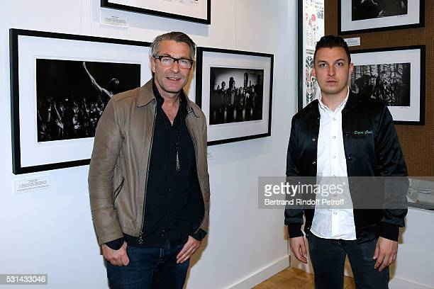Photographers Andreas Neumann and Matt Helders attend Iggy Pop 'Post Depression' Art Pictures Exhibition at French Paper Gallery on May 14 2016 in...