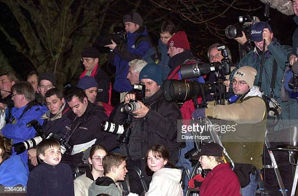 Photographers at christening of Madonna and Guy Ritchie's baby Rocco at Dornoch Cathedral in Scotland Photo: Dave Hogan/MP/Getty Images