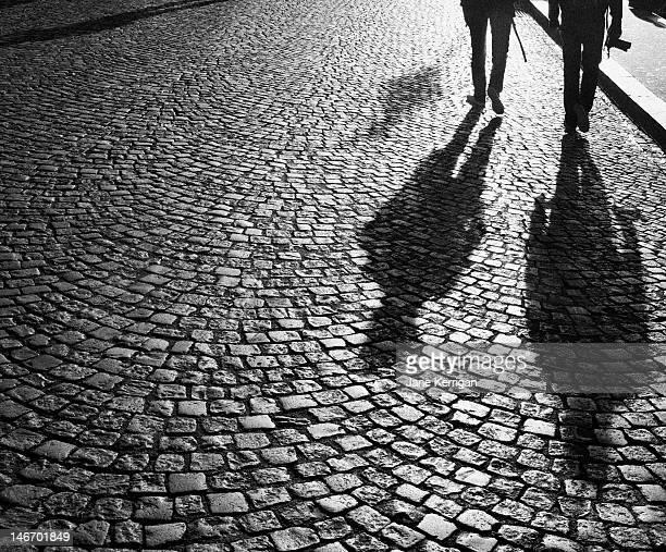 Photographers at dawn in Montmartre, Paris