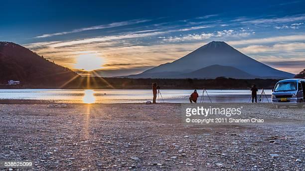 Photographers at Lake Shoji