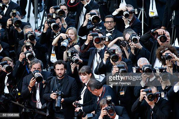 Photographers at the 'Julieta' premiere during the 69th annual Cannes Film Festival at the Palais des Festivals on May 17 2016 in Cannes France