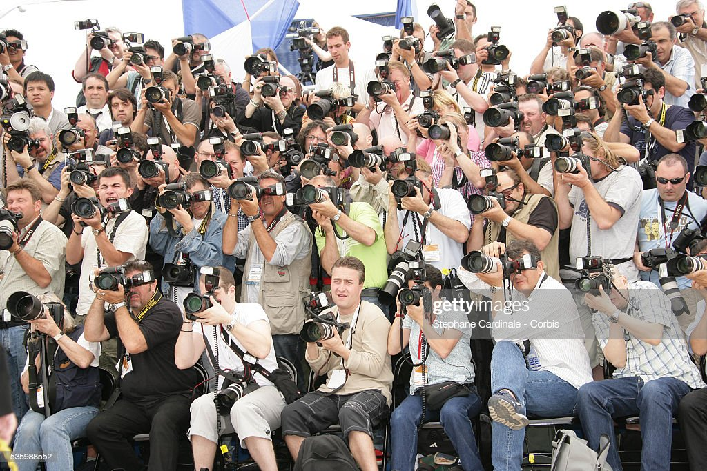 Photographers at the photocall of 'The 2006 Cannes Jury' during the 59th Cannes Film Festival.