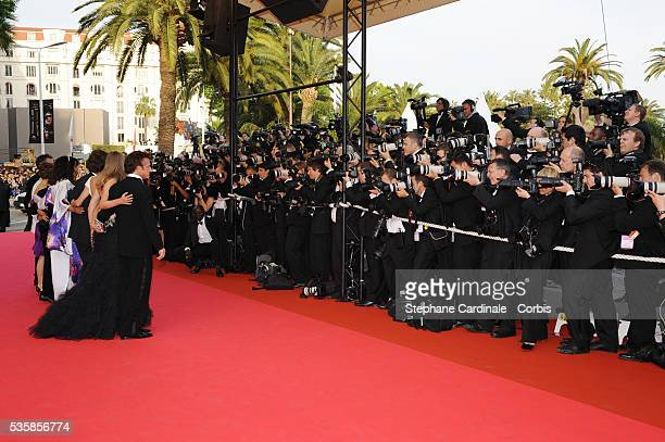 Photographers at the premiere of 'Blindness' during the 61st Cannes Film Festival