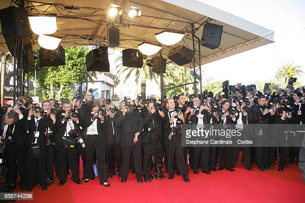 Photographers at the premiere of 'Zodiac' during the 60th Cannes Film Festival