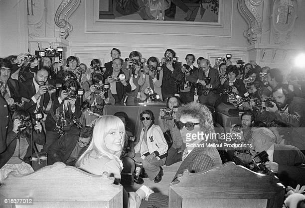 Photographers at Wedding of Michel Sardou and Babette
