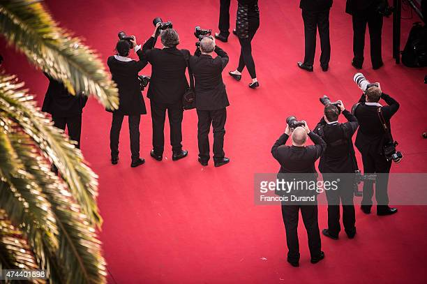 Photographers at work during the Premiere of 'The Little Prince' during the 68th annual Cannes Film Festival on May 22 2015 in Cannes France