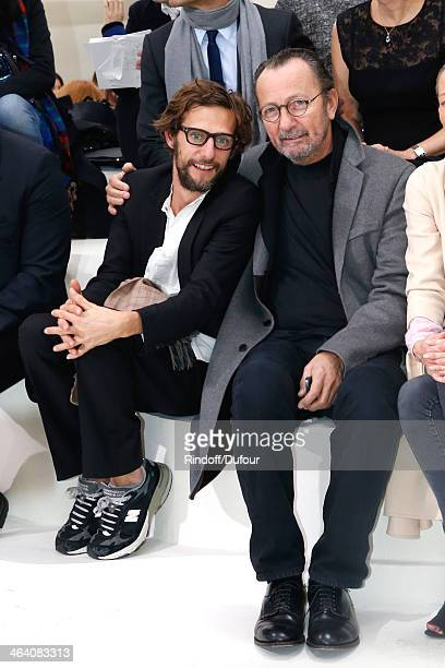 Photographers Benoit Peverelli and Paolo Reversi attend the Christian Dior show as part of Paris Fashion Week Haute Couture Spring/Summer 2014 on...