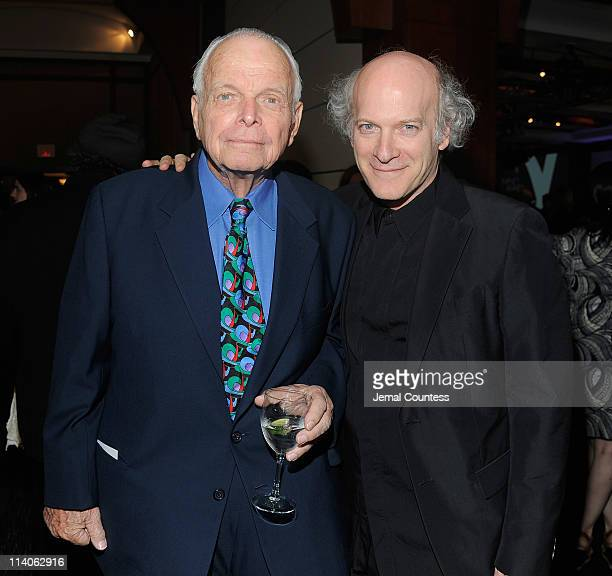 Photographers Bob Adelman and Timothy GreenfieldSanders attend the 27th Annual Infinity Awards 2011 at Pier Sixty at Chelsea Piers on May 10 2011 in...